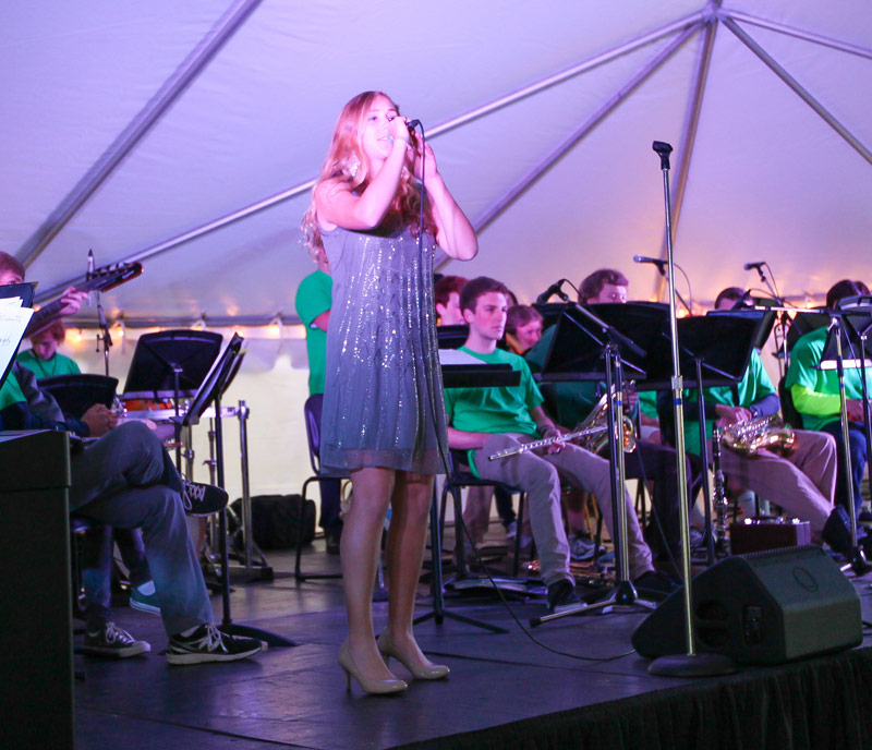A student vocalist performs at the festival.